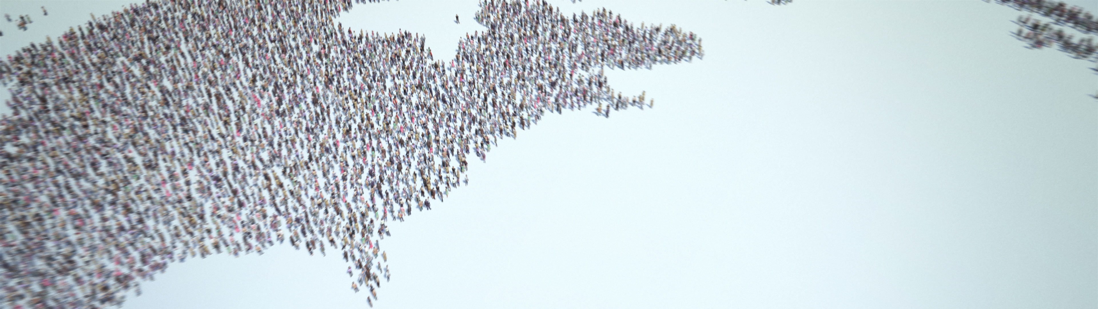 World of People | World of People. Thousands of people formed the globe icon. Camera zoom out. 4k. - ID:24454
