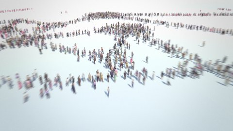 Social Network. Groups and connections between people. - stock footage