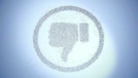 Crowd Dislike. Concept of disagreement, opposition, resistance. - stock footage