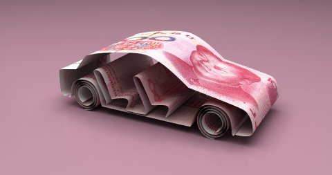 Car Finance with Chinese Yuan - stock footage