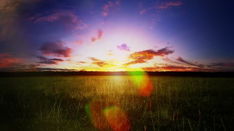 Sunset Landscape - stock footage