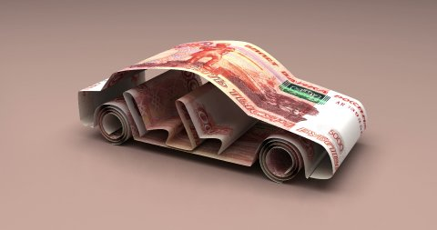 Car Finance with Russian Ruble - stock footage