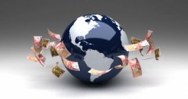 Global Business with New Zealand Dollars - motion graphic
