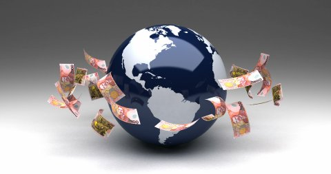 Global Business with New Zealand Dollars - stock footage