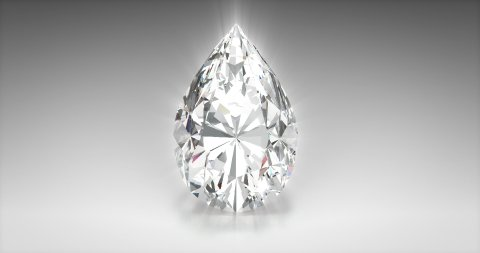 Pear Cut Diamond - stock footage