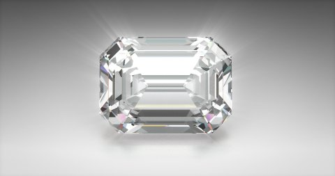 Emerald Cut Diamond - stock footage
