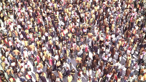 Large Anonymus Crowd - stock footage