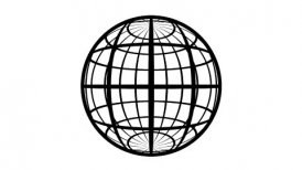 Globe Icon 360. Parallels and Meridians. Stereographic Projection.