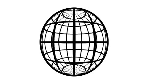 Globe Icon 360. Parallels and Meridians. Stereographic Projection. - stock footage