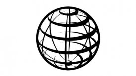 Parallels and Meridians. Globe Icon 360 - View of the Northern Hemisphere. - motion graphic