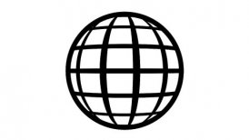 Globe Icon 360. Parallels and Meridians. - motion graphic