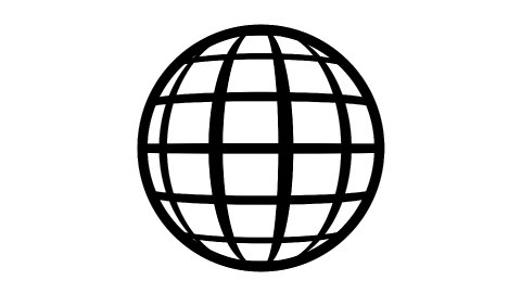 Globe Icon 360. Parallels and Meridians. - stock footage