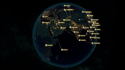 Global Communications - Destinations all over the World. Flight Paths. - stock footage