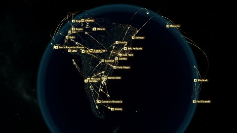 Global Communications - Destinations all over the World. South Hemisphere. - stock footage
