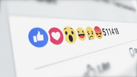 Editorial Animation: Social network likes, reactions and increasing counter on the LCD screen - stock footage