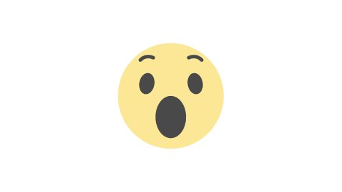 Editorial Animation: Wow Emoticon. Facebook Reactions Icon. Loop. - stock footage