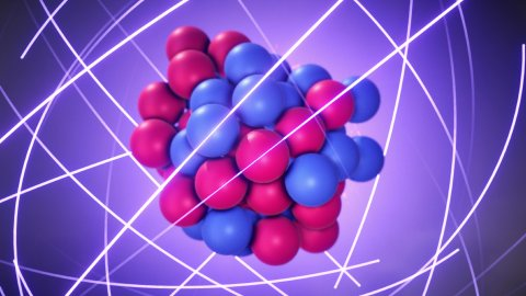 Atomic Nucleus - Protons and Neutrons are Bound Together by the Nuclear Force. - stock footage