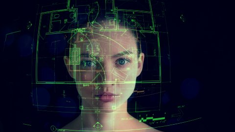 Young Woman is Reading Architectural Plans in Augmented Reality - stock footage