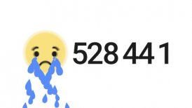 Editorial Animation of Sad Emoticon and Facebook Reactions Counter.