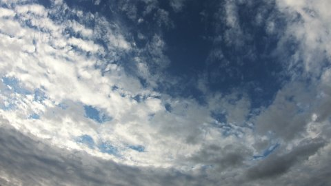 Clouds Moving Across the Blue Sky in 4k - stock footage