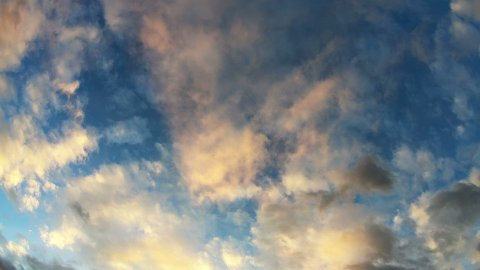 Clouds Moving Across the Sky Against a Background of the Sunset - stock footage