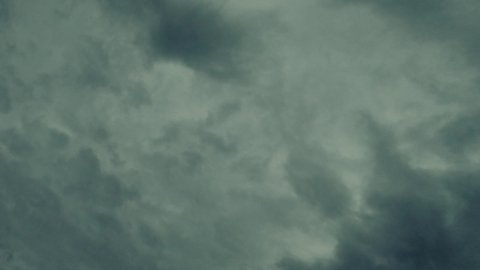 Stormy Evening Clouds, Timelapse, easy to Loop. - stock footage