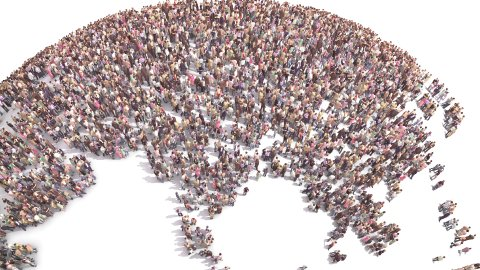 People of the World. Human Overpopulation. - stock footage