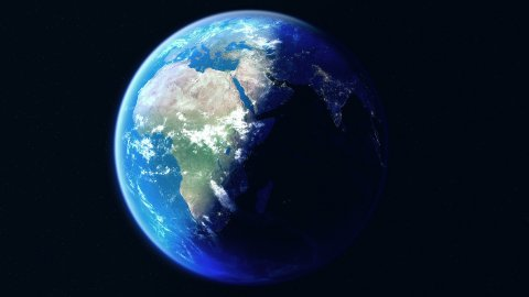 Earth. Slowest 360 Degrees Rotation, 3600 Frames, 60FPS. Globe with City Lights. - stock footage