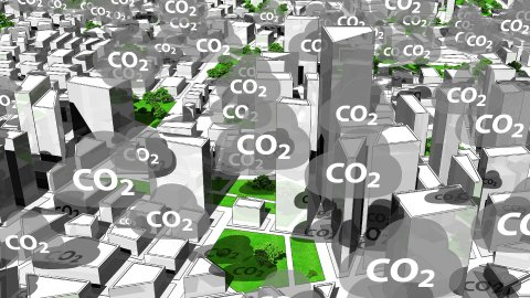 CO2 Emission.  Carbon Dioxide Emission From the City. Loop. - stock footage