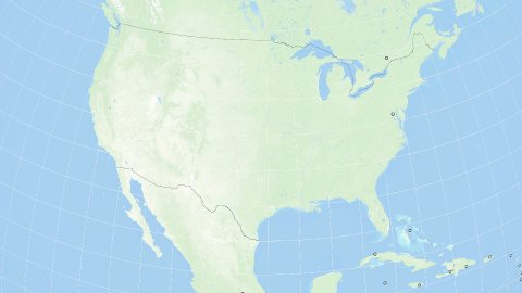 World Zoom to United States of America. Marked Countries and Capitals. 4k. - stock footage