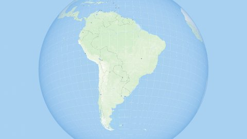 World Zoom to South America. States and Capitals. 4k. - stock footage