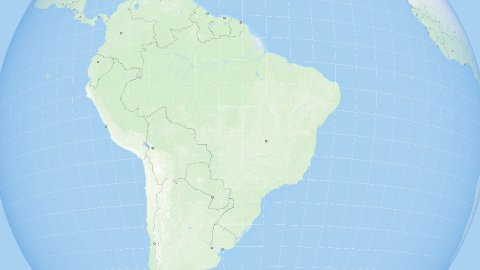 World Zoom to Brasil. States and Capitals. 4k. - stock footage