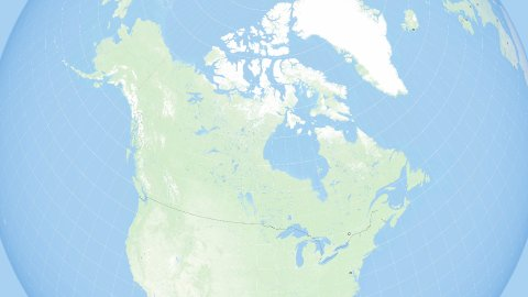 World Zoom to Canada. States and Capitals. 4k. - stock footage