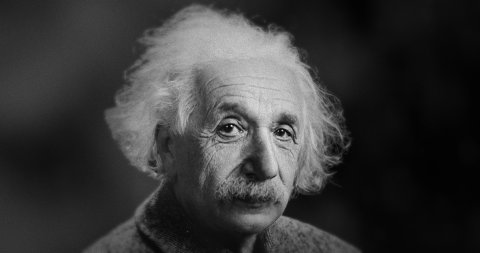 The Iconic Photo of Albert Einstein in Motion. - stock footage