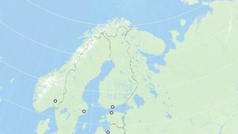 World Zoom to Finland. States and Capitals. 4k. - stock footage