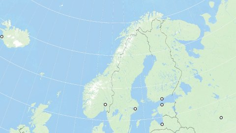 World Zoom to Norway, Scandinavia. States and Capitals. 4k. - stock footage