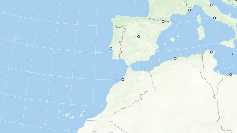 World Zoom to Spain with the Canary Islands. States and Capitals. 4k. - stock footage