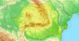Zoom to Romania Map. Cities, State Borders, Main Roads, Elevation Data.