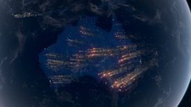 Bushfires in Australia. Satellite View of Massive Fires and Smokes in Australia.