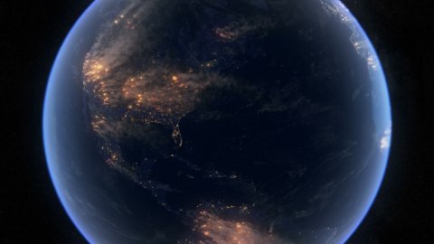 Fire And Smoke Covering Most of the World.  Wildfires, Wars or Pollution Clouds. - stock footage