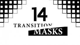Transition Masks With Square Pattern. 14 Versions of Luma Mattes, Alpha Channels