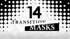 Transition Masks With Dots Pattern. 14 Versions of Luma Mattes, Alpha Channels