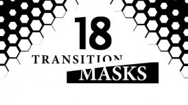 Transition Masks With Hexagon Pattern 18 Versions of Luma Mattes, Alpha Channels