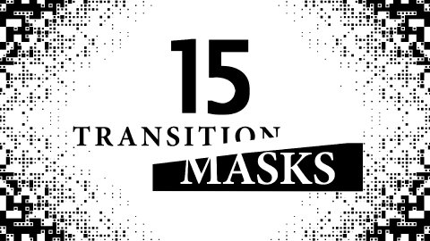 Transition Masks, Digital Pixeleted Pattern. 15 Versions of Luma Mattes. - stock footage