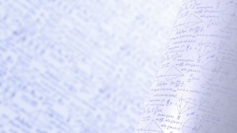 Mathematical Formulas and Graphs. Tables and Statistics. Seamless Loop. - stock footage