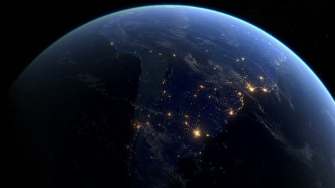 Blackout in South America - stock footage