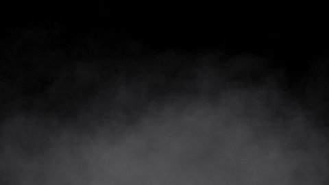White Smoke Isolated on Black Background. Slow Vertical Movement. - stock footage