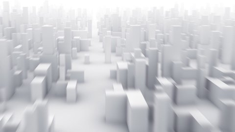3D city Camera fly through - stock footage