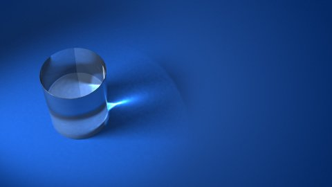 glass cylinder background LOOP - stock footage