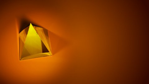 glass pyramid background LOOP - stock footage